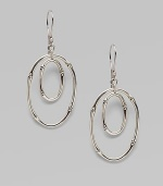 From the Bamboo Collection. Sterling silver articulated in ovals of bamboo is at once earthy and luxurious.Sterling silver Length, about 2 French wire Imported