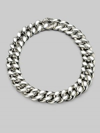 From the Cordelia Collection. Bold and sophisticated, ultra chunky links of sterling silver with a cable link clasp. Sterling silver Length, about 17½ Hinged link clasp Imported