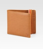A timeless classic, constructed in smooth, Italian leather and an elastic band with striped detail.Two billfold compartmentsEight card slotsLeather4½W x 4HMade in Italy