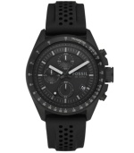 Black-on-black for versatility, chronograph movement for precision: the Decker watch by Fossil.