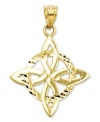 Symbolic for spirit, mind and body, this polished and diamond-cut Trinity charm makes the perfect Celtic gift. Crafted in 14k gold. Chain not included. Approximate length: 1-1/5 inches. Approximate width: 9/10 inch.