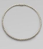 From the Classic Chain Collection. An elegantly woven chain of sterling silver.Sterling silver Length, about 20 Pusher Clasp Imported