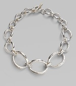 From the Glamazon Collection. Chunky graduated links in hammered sterling silver.Sterling silver Length, about 17½ Toggle closure Imported