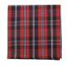 100% Cotton Red Glasgow Plaid Pocket Square