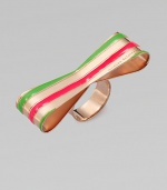 Bright enamel stripes make this charming design a stand-out piece. Rose goldtone plated sterling silverEnamelMade in Italy