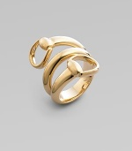 A gorgeous 3-row design with two horsebits in 18k gold. 18k gold Width, about ½ Made in Italy
