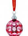Waterford 2011 Ruby Cased Ball Ornament