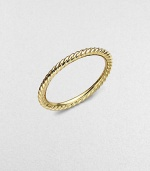 From the Midnight Melange Collection. A slim cable design in polished 18K yellow gold.18K yellow gold Width, about 2mm Imported Additional Information Women's Ring Size Guide
