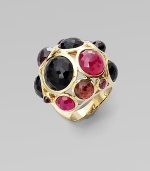 From the Lollipop Collection. A bold array of ruby, garnet, onyx and rhodolite stones in 18k gold. Ruby, garnet, onyx and rhodolite18k goldWidth, about 1½Imported