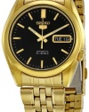 Seiko Men's SNK368 Series 5 Gold Tone Stainless Steel Bracelet Watch