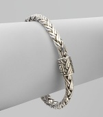 From the Classic Chain Collection. Essential Hardy, this flexible braid of sterling silver has a signature clasp.Sterling silver Length, about 7¼ Push-lock clasp Made in Bali