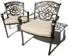 Strathwood St. Thomas Cast-Aluminum Deep-Seating Arm Chair, Set of 2