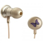 Monster Butterfly by Vivienne Tam with ControlTalk High Performance In-Ear Headphones - Stylish Designer In-Ear