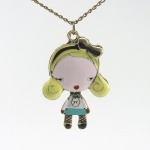 DaisyJewel Harajuku Lovers - Inspired by Gwen Stefani - L.A.M.B. - Love Angel Music Baby - G Blonde Gwen Character Pendant Necklace on 28 Bronze Chain - Ships Within 1 Business Day from in the US