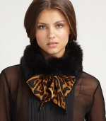 Make a statement with this luxurious, tie front design trimmed in dyed fox fur. 30% virgin wool/30% cashmere/40% silkAbout 7 X 59Specialist dry cleanMade in Italy Fur origin: Finland