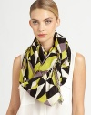 Trimmed in allover fringe, this vibrant, kaleidoscope-printed wrap has a little edge.Viscose44 X 78Hand washImported