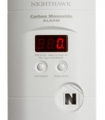 Kidde KN-COPP-3 Nighthawk Plug-In Carbon Monoxide Alarm with Battery Backup and Digital Display