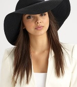 A simply chic design with a wide, floppy brim and a corded band. 90% toyo paper/10% cottonCorded band with knot detailBrim, about 4Hand washMade in USA of imported fabrics
