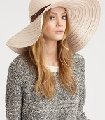 A breezy woven straw design, crafted in a chic wide-brim silhouette.Polyester/cottonMade in USA