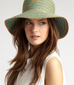 Lightweight, packable bucket style made of color fast grosgrain ribbon and squishee braid.Brim, about 3¼ wide 50% poly ribbon/17½% viscose/14% polypropylene/13½% recycled polypropylene/2½% silk/2½% polyester Machine Wash Imported