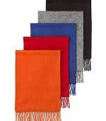 A luxuriously soft scarf rendered in bold seasonal colors, from The Men's Store at Bloomingdale's.