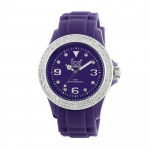 Ice Men's STPSDUS10 Stone Silicone Purple Silver Dial with Stone Accented Bezel Watch