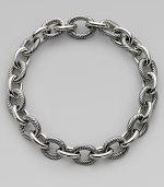 From the Chain Collection. Alternating cable and plain oval links in signature sterling silver.Sterling silver Length, about 18½ Hidden clasp Imported