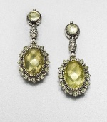 EXCLUSIVELY AT SAKS. From the Irma Collection. Faceted lemon citrine set in a sterling silver design, surrounded in complimentary peridot stones in a lovely drop design. Lemon citrine and peridotSterling silverDrop, about 1.75Post backImported