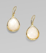 From the Rock Candy® Collection. A beautifully faceted teardrop-shaped mother-of-pearl set in resplendent 18k gold. Mother-of-pearl18k goldDrop, about 1¼ Hook backImported