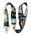 ONE Direction Rock Band 2012 BLUE BRAND NEW DESIGN Lanyard Keychain Holder for MP3, Cellphones