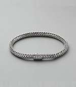 Sterling silver small oval chain bracelet. Spring clasp 8½ long Handmade Imported
