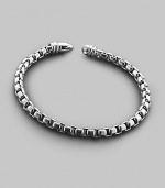 Large box chain bracelet in sterling silver with signature DY lobster claw clasp.8¾ long