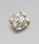 A bold sterling silver design with signature John Hardy details.SilverAbout ½ wideImported