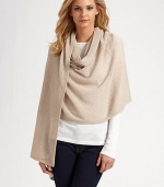 A soft, airy style in luxurious cashmere with a solid border. CashmereAbout 80 X 28Dry cleanImported