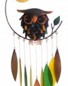 Blue Handworks Spiky Owl Glass Wind Chime