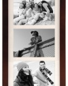Malden Linear Wood Matted 5x7 Walnut Collage Picture Frame