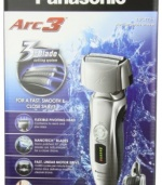 Panasonic ES-LT71-S Men's 3-Blade(Arc 3) Wet/Dry Nanotech Rechargeable Electric Shaver with Vortex Cleaning System, Silver