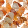 Carnelian Variegated Gemstone Chips 7 x 4mm /32 Inch Strand