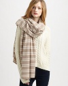 This over-sized, striped scarf is ultra-luxe in cozy cashmere.CashmereAbout 81 X 36Dry clean or hand washImported