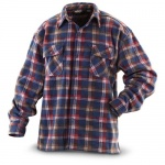 Guide Gear Fleece CPO Shirt Plaid, DEEP CLARET, M
