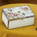StealStreet SS-A-38115 Butterfly with Floral Jewelry Box, Pink