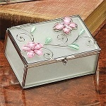 StealStreet SS-A-38101 Butterfly Decoration Jewelry Box, Pink